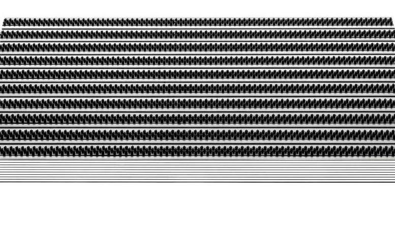 Outdoormatte Aluminium
