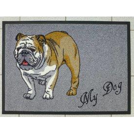 "Schmutzfangmatte - ""Bulldogge""- mit Namen"