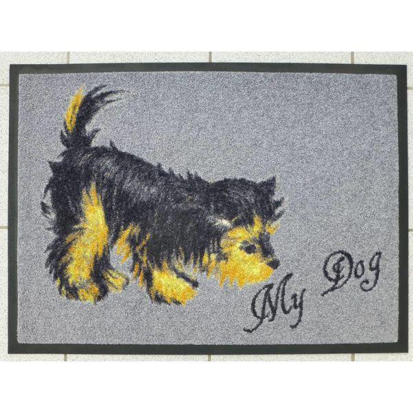 """Logomatte """"Terrier"""" mit Namen. (bis max. 8 Zeichen)"""