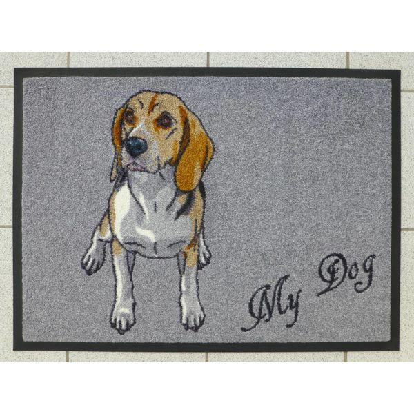 """Logomatte """"Beagle"""" mit Namen. (bis max. 8 Zeichen)"""