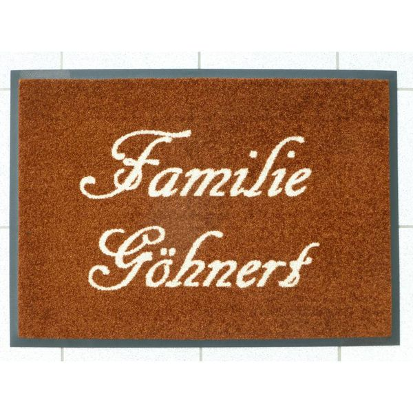 """Logomatte """"Familie"""" mit Ihren Familiennamen."""