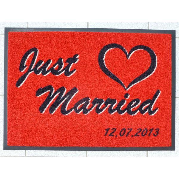 """Logomatte """" Hochzeit """" mit individuellem Hochzeitsdatum."""