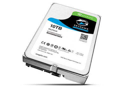 """Seagate 10TB 7.200 rpm 3.5"""" SATA SkyHawk HDD"""