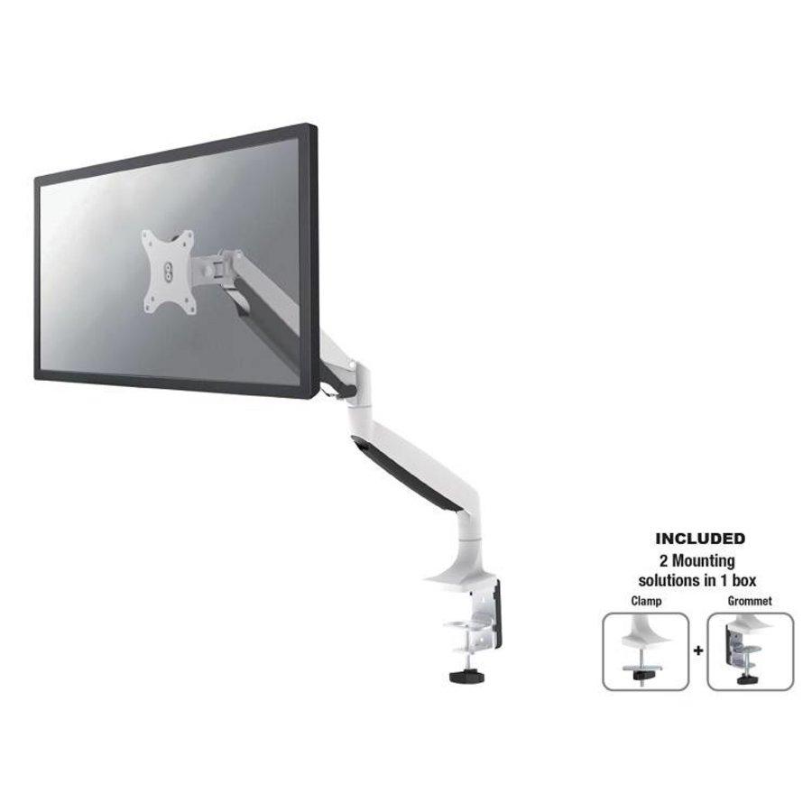 """NM-D750WHITE Flat Screen Desk mount (10-32"""") desk clamp/grommet"""