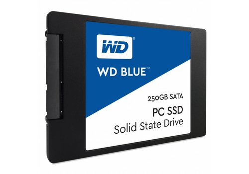 "Western Digital (WDC) 250GB 2.5"" SATA SSD Blue 7mm Cased"