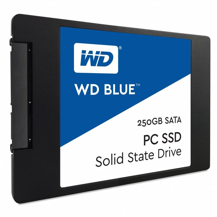 "250GB 2.5"" SATA SSD Blue 7mm Cased"