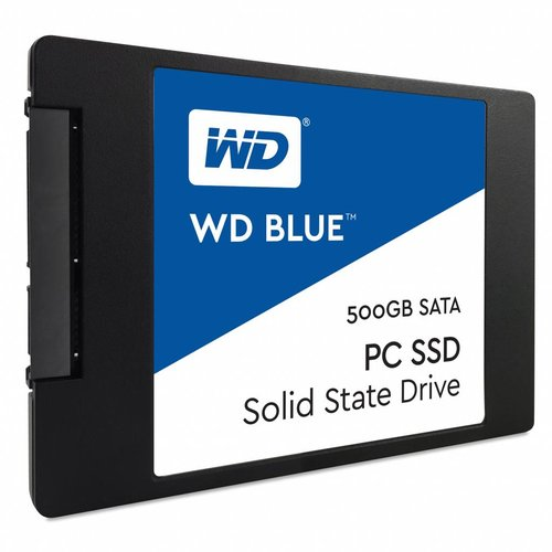 """Western Digital (WDC) 500GB 2.5"""" SATA SSD Blue 7mm Cased"""
