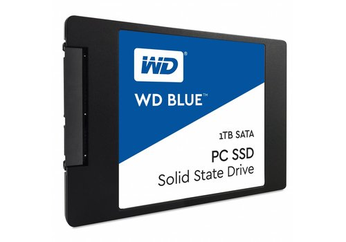 "Western Digital (WDC) 1TB 2.5"" SATA SSD Blue 7mm Cased"