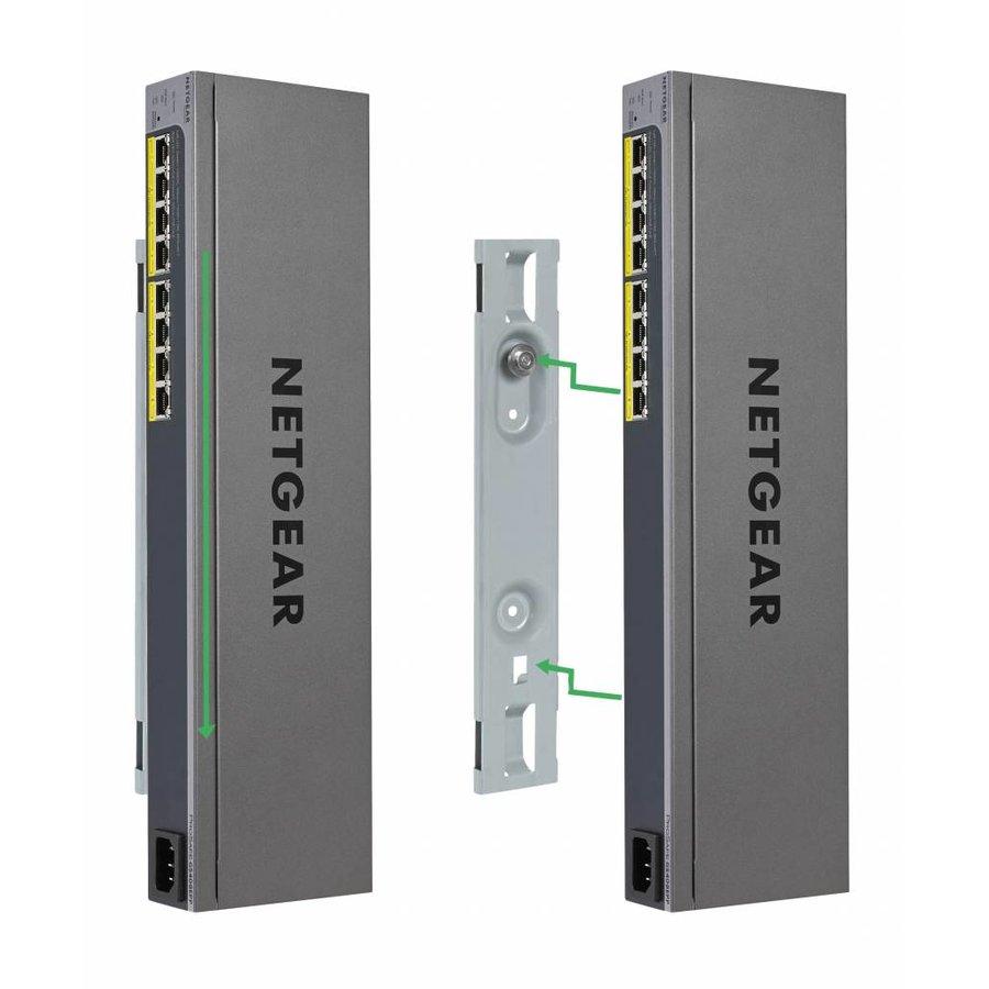 Easy-Mount 8-port Gigabit Ethernet PoE+ Web Managed