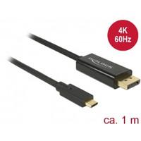 Cable USB Type-C™ male > Displayport male (DP Alt Mode) 4K 60 Hz 1 m black