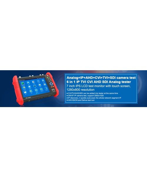 "Veiligheid Voor Alles 7"" TESTER MONITOR for 8MPTVI ,8MPCVI ,5MP AHD, IP, ANALOG,digital multimeter"