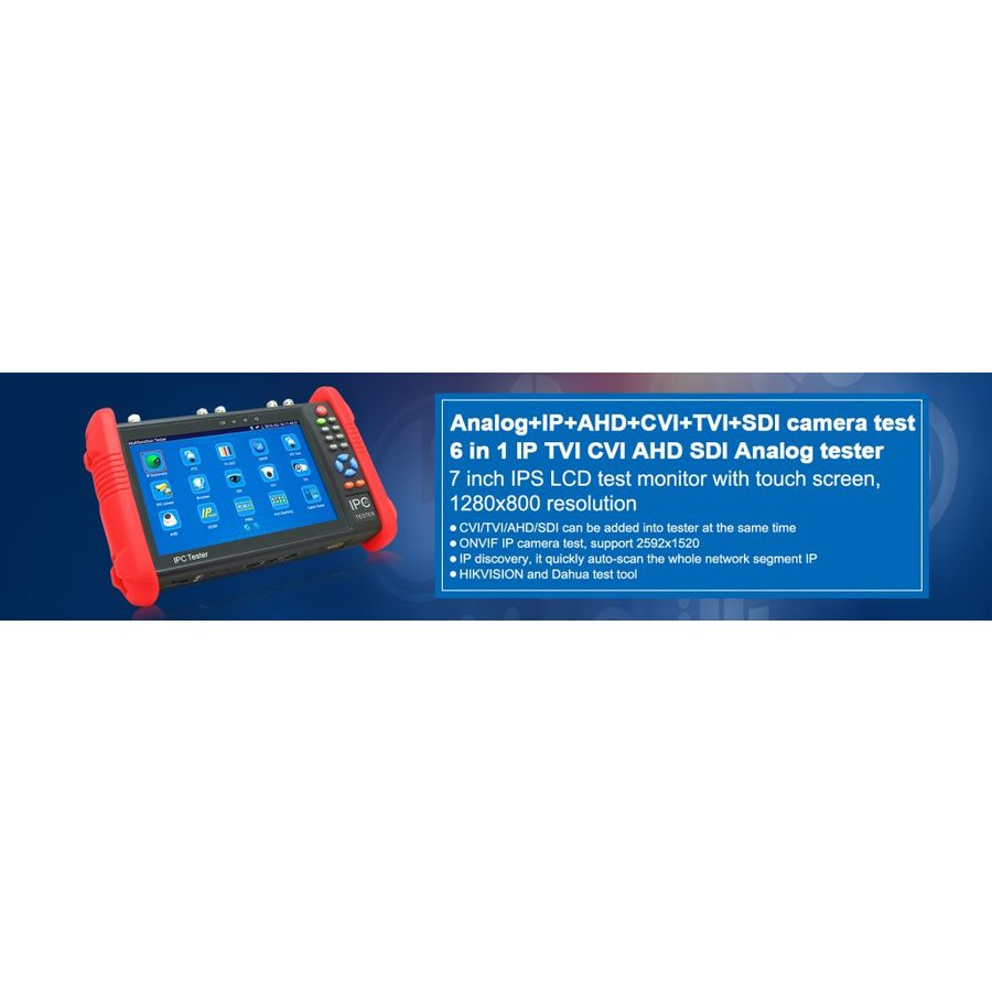 "7"" TESTER MONITOR for 8MPTVI ,8MPCVI ,5MP AHD, IP, ANALOG,digital multimeter"