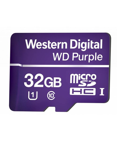 Western Digital (WDC) 32GB Purple microSD Card