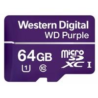 64GB Purple microSD Card
