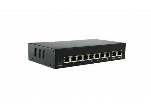 Veiligheid Voor Alles Switch 10 Ports met 8 x PoE