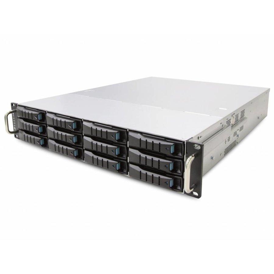 "19"" 2U - 12 Bay Hot Swap Server - 680mm - 72TB"