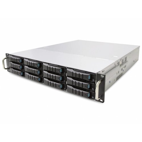 "Veiligheid Voor Alles 19"" 2U - 12 Bay Hot Swap Server - 680mm - 96TB"