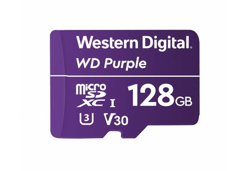 Western Digital (WDC) 128GB Purple microSD Card