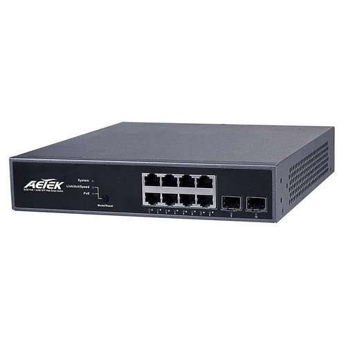 Aetek Smart 8-Port 30W PoE + 2-Port SFP GbE Switch