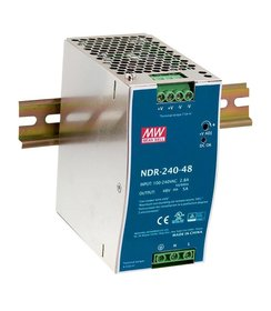 240W / 48~55VDC output , 100~240VACInput, Din-Rail