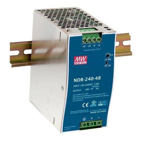 Veiligheid Voor Alles 240W / 48~55VDC output , 100~240VACInput, Din-Rail