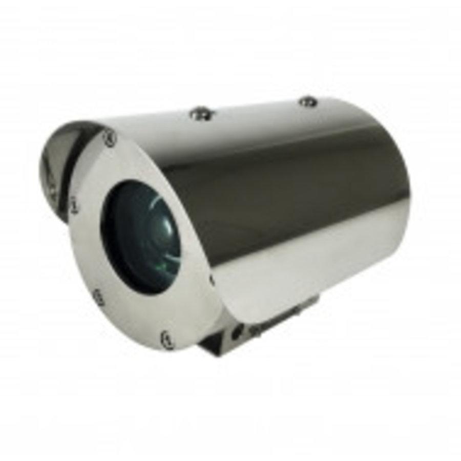 2MP CMOS H.265 30FPS, EXPLOSION PROOF CAMERA, 5-50MM MOTORIZEDLENS, IP69K, IK10, POE/DC12V, 10X AF LENS