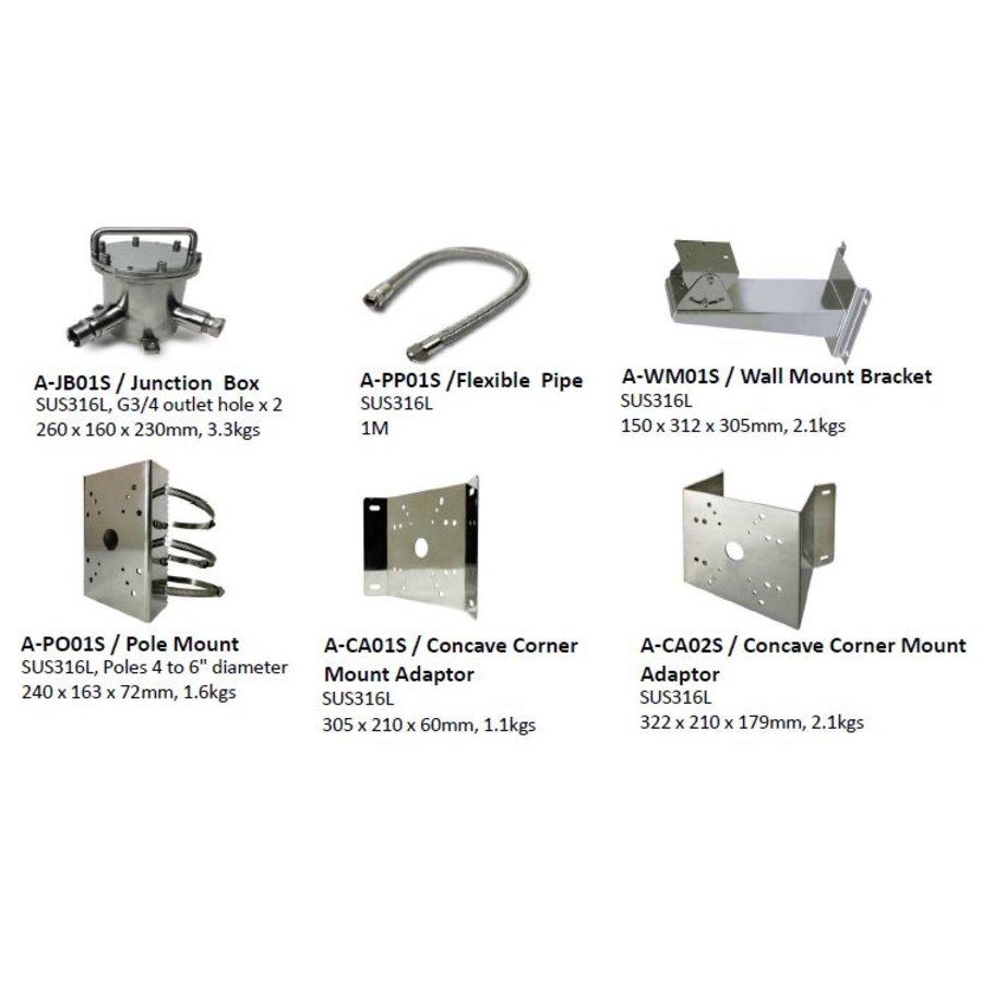 Conves Corner Adaptor SUS 316L 322x210x179MM