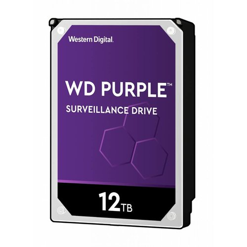 "Western Digital (WDC) 12TB 7.200 rpm 3.5"" SATA Surveillance HDD Purple"