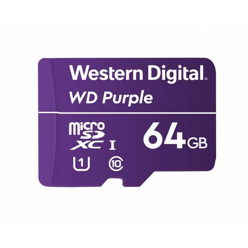 Western Digital (WDC) 64GB Purple microSD Card