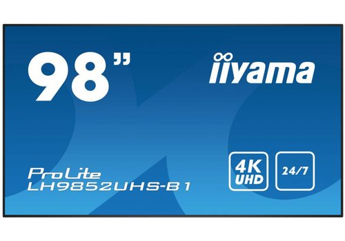 "IIyama ProLite 98"" 4K UHD, LH9852UHS-B1"