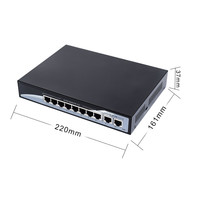 10-Ports PoE Switch with 8 PoE Ports and 2 Uplink
