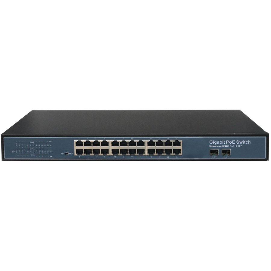 24 Ports PoE Switch 10/100/1000M + 2SFP
