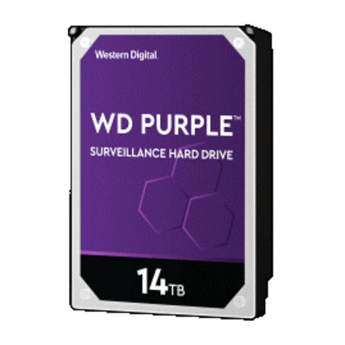 "Western Digital (WDC) 14TB  Purple 7.200 rpm 3.5"" SATA Surveillance HDD"