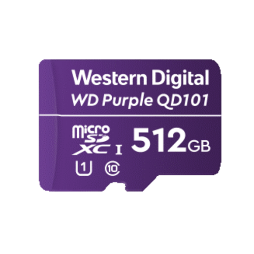 Western Digital (WDC) 512GB Purple microSD Card