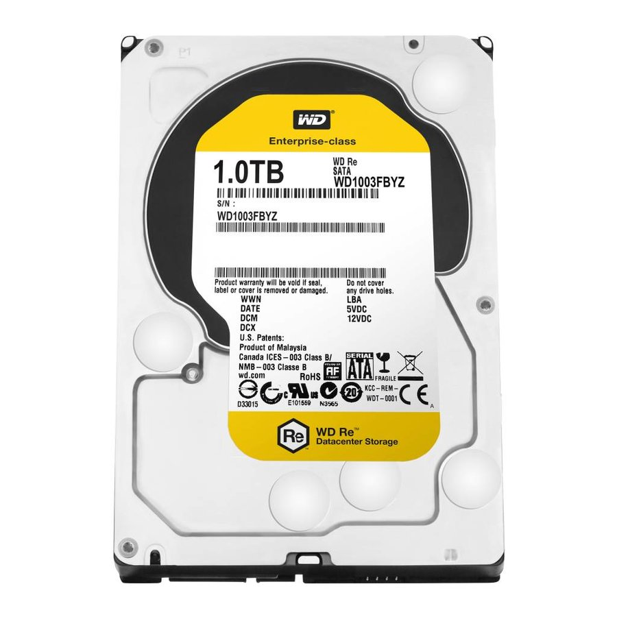 "1TB 7.200 rpm 3.5"" SATA 6GB/S RE"