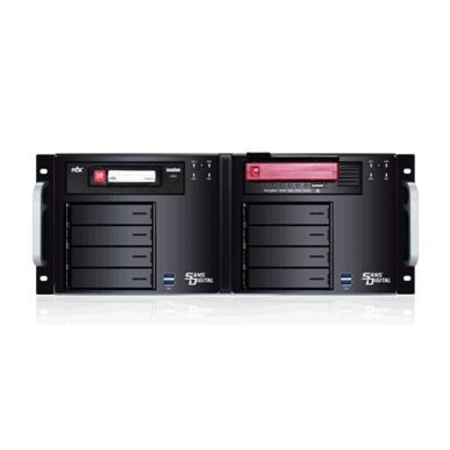 AN4L+BRDX - 64bit 4 Bay NAS + Backup Appliance Dual Gigabit with RDX Docking (Black)