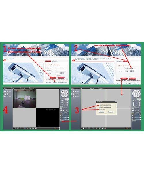 WSM Technology Nederland B.V. DVR 8 Kanaals + 8 Camera's