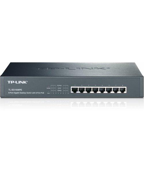 TP-Link 8 Port 10/100/1000 (8) PoE - 140W - Desktop/RackMount