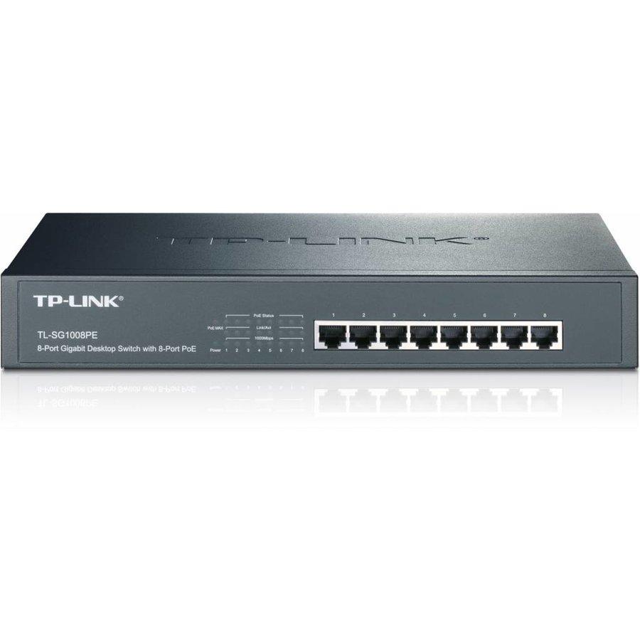 8 Port 10/100/1000 (8) PoE - 140W - Desktop/RackMount