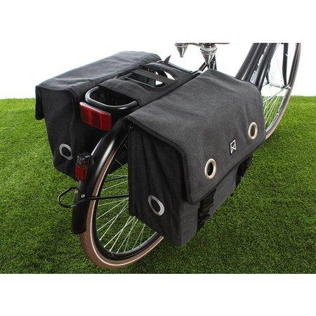 Willex Dubbele fietstas Canvas Tas Zwart - 40 liter