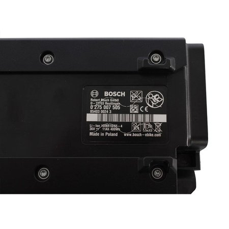Bosch Accu 36V Intuvia 400 Drager Classic Plus - 11,0Ah - 396Wh Zwart