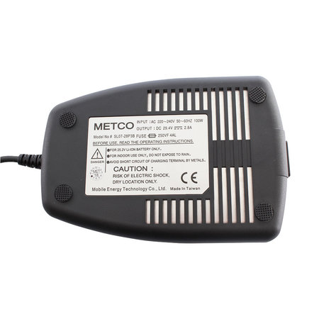 METCO fiets acculader 24V 2,8A