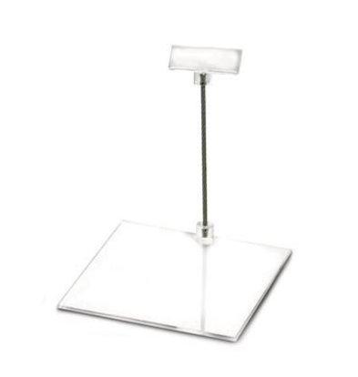 Boska Price Holder Perspex M | 100x100x100 (h) mm | Per 10 Pieces