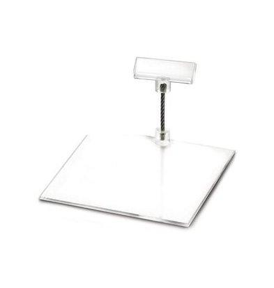 Boska Price Holder Perspex S | 100x100x50 (h) mm | Per 10 Pieces
