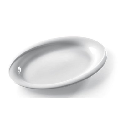 Hendi Schaal ovaal Exclusiv - 340x270x35 mm - Wit - Porselein