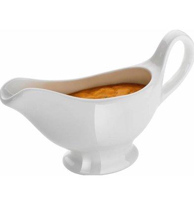 Hendi White Porcelain gravy boat | Radiant White | Dishwasher-safe | 150ml | 180x55x (h) 130mm