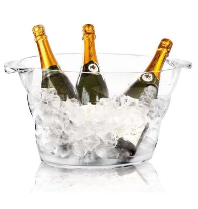 Hendi Champagnekoeler Transparant - Party Tub - 47x29x23(h)cm - DELUXE