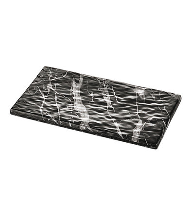 XXLselect Serveerplateau Zwart Marmer Look | Hoogwaardig Melamine | Hoge breukbestendigheid | 1/3 GN