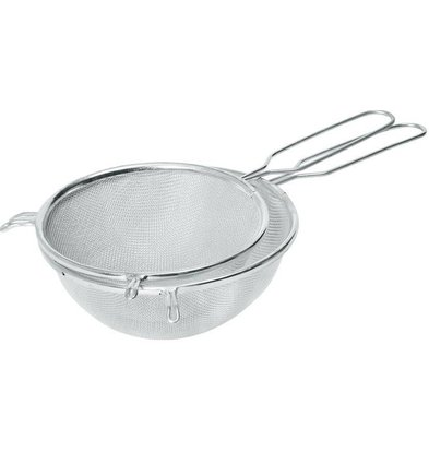 Hendi Pass through sieve tin 160x320 mm - with wire handle