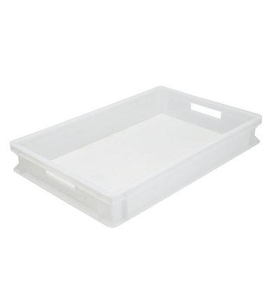 XXLselect Stapelbak Kunststof Wit | Geschikt voor Pizzabollen | 600x400x(H)75mm